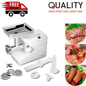 Heavy Duty Electric Meat Grinder Commercial With 3 Blade Aluminum Metal 2000 W