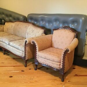 Antique Victorian Couch Chair Great For Formal Sitting Room