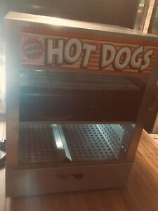 Professional Commercial Apw Wyott Ds 1a Hot Dog Steamer Cooker 1 Owner