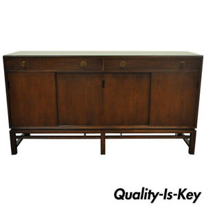 Edward Wormley Dunbar Mahogany Sliding Door Sideboard Buffet Credenza Cabinet