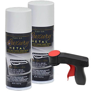 Plasti Dip Luxury Metal Spray 2 11oz Cans With Cangun Trigger Glacier White