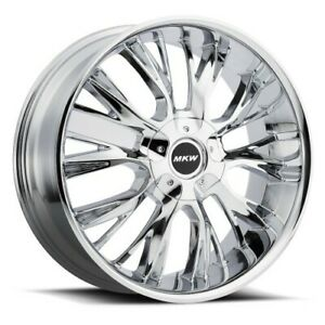 22x9 Mkw M122 Chrome Wheels 6x135 6x5 5 35mm Set Of 4