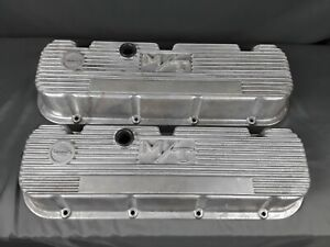 Mickey Thompson Big Block Chevy Finned Aluminum Valve Covers 396 402 427 454