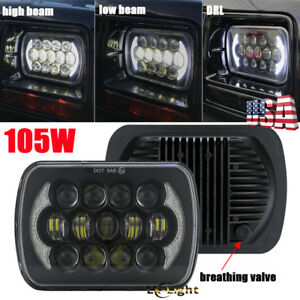 Dot 105w 5x7 7x6 Projector Led Sealed Beam Headlight For Jeep Cherokee Xj Yj