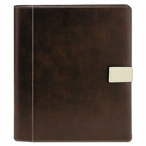 Textured Notepad Holder 8 1 2 X 11 Leather like Brown