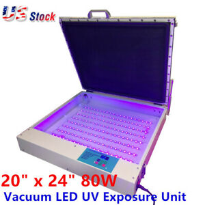 Usa Tabletop Precise 20 X 24 80w Vacuum Led Uv Exposure Unit Screen Equipment