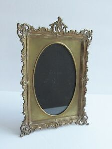 Antique Brass Frame Small Standing Desk Photo Frame