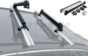 Universal Ski Snowboard Roof Rack Carriers For 6 Pair Skis Or 4 Snowboards 26