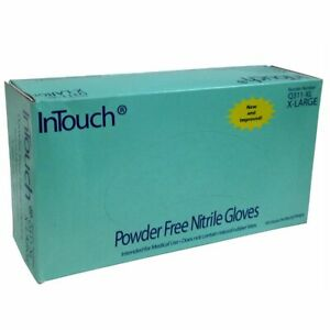 Case Intouch Q311 Gloves 5 Mil Blue Nitrile Gloves Small Medium