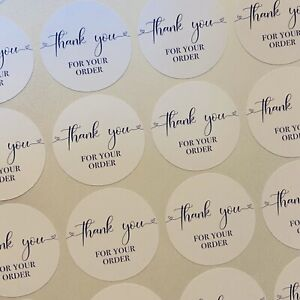 Thank You For Your Order Small Business labels stickers postage 25mm Round 2 5cm