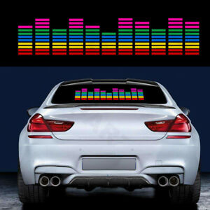 Car Sticker Music Rhythm Led Flash Light Sound Activated Equalizer Rgb Lamp Kit