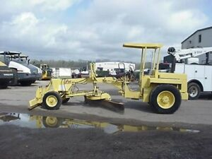1982 Lee G220 Motor Grader 10 Foot Mold front Push Blade Scarfiers