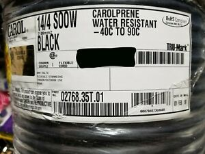New Carol 02768 14 4c Carolprene Soow 600v 90c Portable Power Cable Cord Black