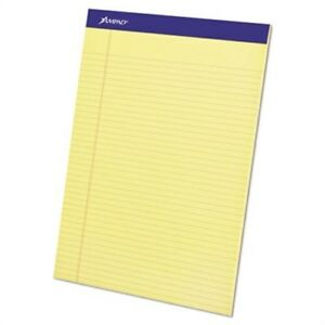 Perforated Writing Pad 8 1 2 X 11 3 4 Canary 50 Sheets Dozen