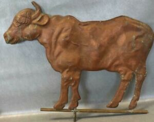 Cow Bull Weather Vane Weathervane Copper 30 Long Old Vintage Antique