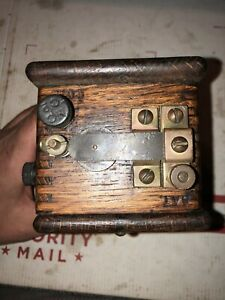 Hit Miss Engine Wood Buzz Coil With Bakelite Nuts hot
