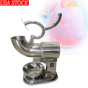 440lbs Ice Shaver Sno Snow Cone Maker Shaved Icee Electric Crusher 2000runs min