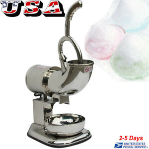 Ice Shaver Machine Sno Snow Cone Maker Shaved Icee Electric Crusher 220w Us Ship