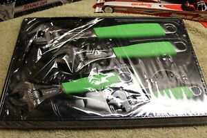 Snap On 4 pc Flank Drive Plus Green Adjustable Wrench Set 6 12 Fadh704bg