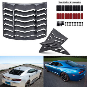 Rear Window Louvers Quarter Side Scoop Vent Sun Shade For Chevy Chevrolet Camaro