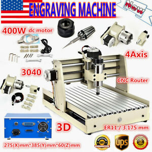 4 Axis 3040 Engraver Engraving Milling Wood Carving Routers Machine Ac110v 400w