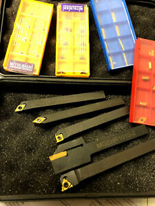 Emco Cnc Mini Lathe Indexable Tool Set 40 Carbide Inset 3 8