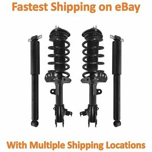 4 Wheel Complete Strut Assembly With Gas Shock Kit Fits 2005 2007 Honda Odyssey