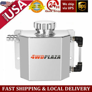 1l Universal Aluminum Coolant Radiator Overflow Recovery Water Tank Bottle Usa