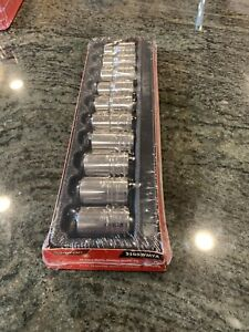 Nee Sealed Snap On 310swmya 10 19mm 1 2 Drive Metric Shallow 12 Point Socket Set