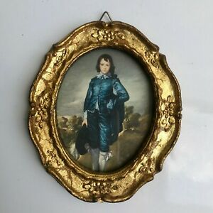 1950 S Italian Gilt Carved Picture Frame W Print