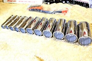 New Blue Point 3 8 Drive Deep Sockets Set 11pc Blpl Snap On From 3 8 To 1