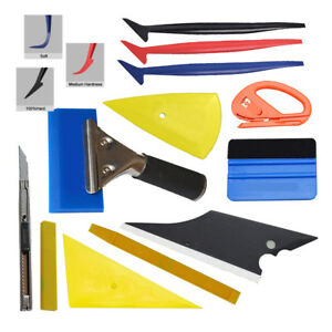 Pro Car Wrapping Tools Vinyl Squeegee Gasket Micro Scraper Blades Knife Install