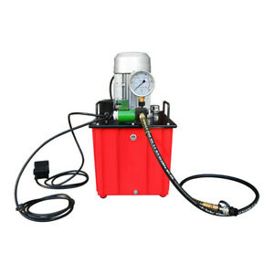 10 000 Psi Electric Hydraulic Pump Single Acting Solenoid Valve Foot Operated