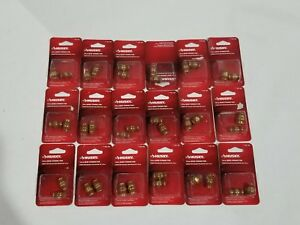 Husky 1 4 Male Male Connectors Brass Lot Of 18 2pks 193185
