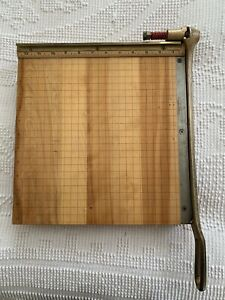 Vintage Ingento 4 Industrial Guillotine Paper Cutter Trimmer 12 X 12