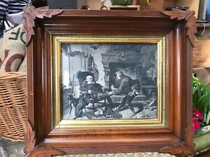 Antique Wood Frame With Hand Carved Detail