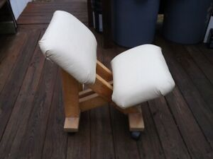My Prototype Knee Sit Back Relief Or Reclined Gaming Chair Ivory Leather