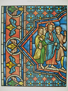 Jesus Se Makes To The Wedding Of Cana D Ap Stained Glass Xiii Siecl Litho Xixth