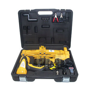 2 Ton Electric Scissor Car Jack 1 2 Impact Wrench 12v Lift Free Shipping