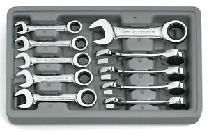 Gearwrench 10 Pc Metric Stubby Combination Ratcheting Set 10mm 19mm 9520d