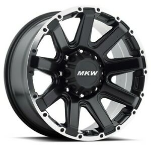 18x9 Mkw Offroad M94 Satin Black Machined Wheels 8x180 10mm Set Of 4