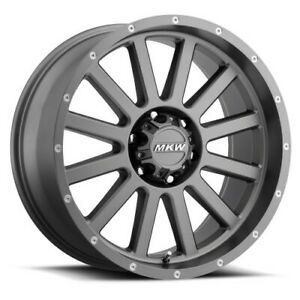 20x9 Mkw Offroad M96 Satin Grey Wheels 6x5 5 10mm Set Of 4