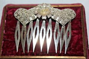 Antique Payneta Philippines Sterling Silver Hair Comb Fms1