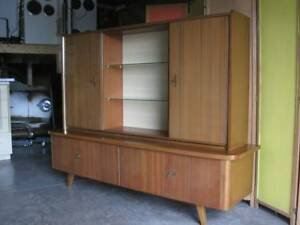Vtg Mcm Danish Modern Style Teak German Credenza Cabinet And Top China 60 S 50 S
