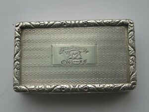 Exquisite Antique George Iv English Sterling Silver Snuff Box Fortis In Arduis