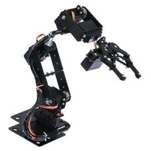 6 dof Robot Mechanical Arm Servo Controlled For Arduino Learning Robotics