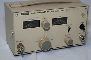 Anristu Mg724e1 Signal Generator 6 3ghz 7 8ghz Tested And Working Properly