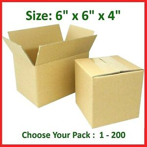 6x6x4 Cardboard Packing Mailing Gift Moving Shipping Boxes Corrugated Box Carton
