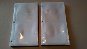 Vinyl 4 Pocket Cd dvd Half Page 3 Ring Binder 50 Pack Sleeves Sheets Holds 200