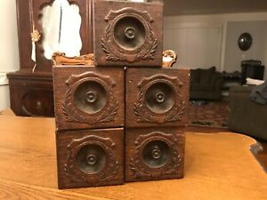 5 Vintage Oak Singer Treadle Sewing Machine Drawers